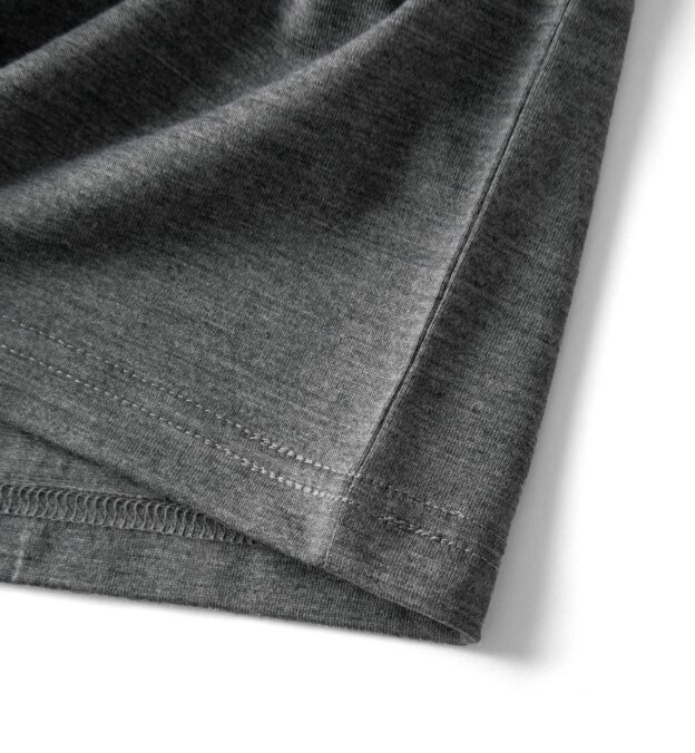 Grey Merino Wool V-Neck T-Shirt