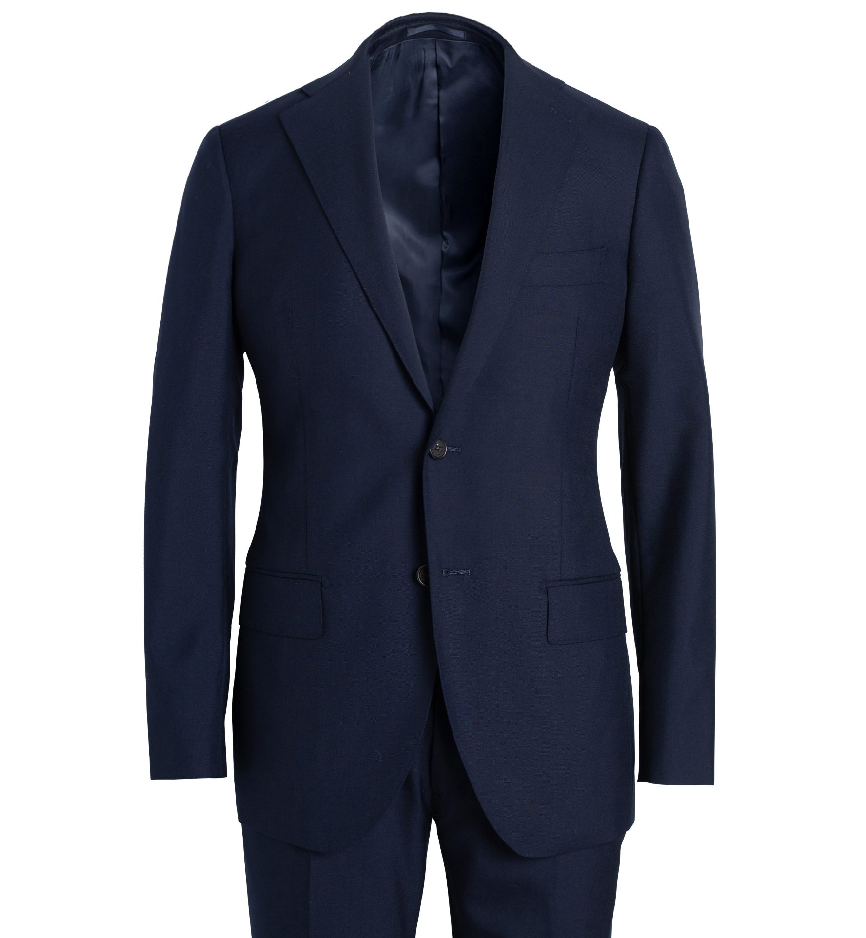 Zoom Image of Allen Navy Tropical Wool Fresco Suit