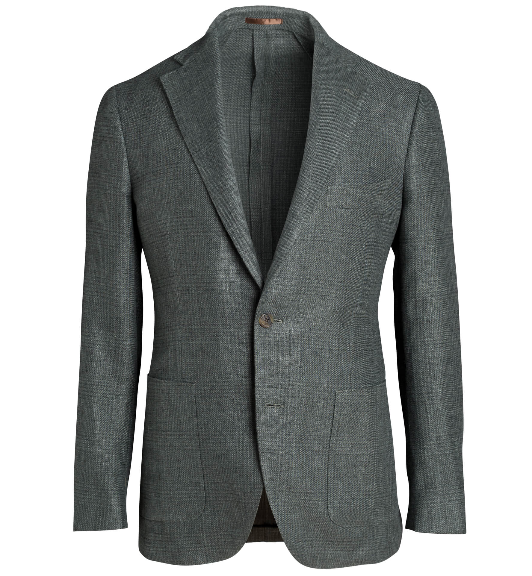 Zoom Image of Bedford Faded Green Glen Plaid Linen and Wool Jacket