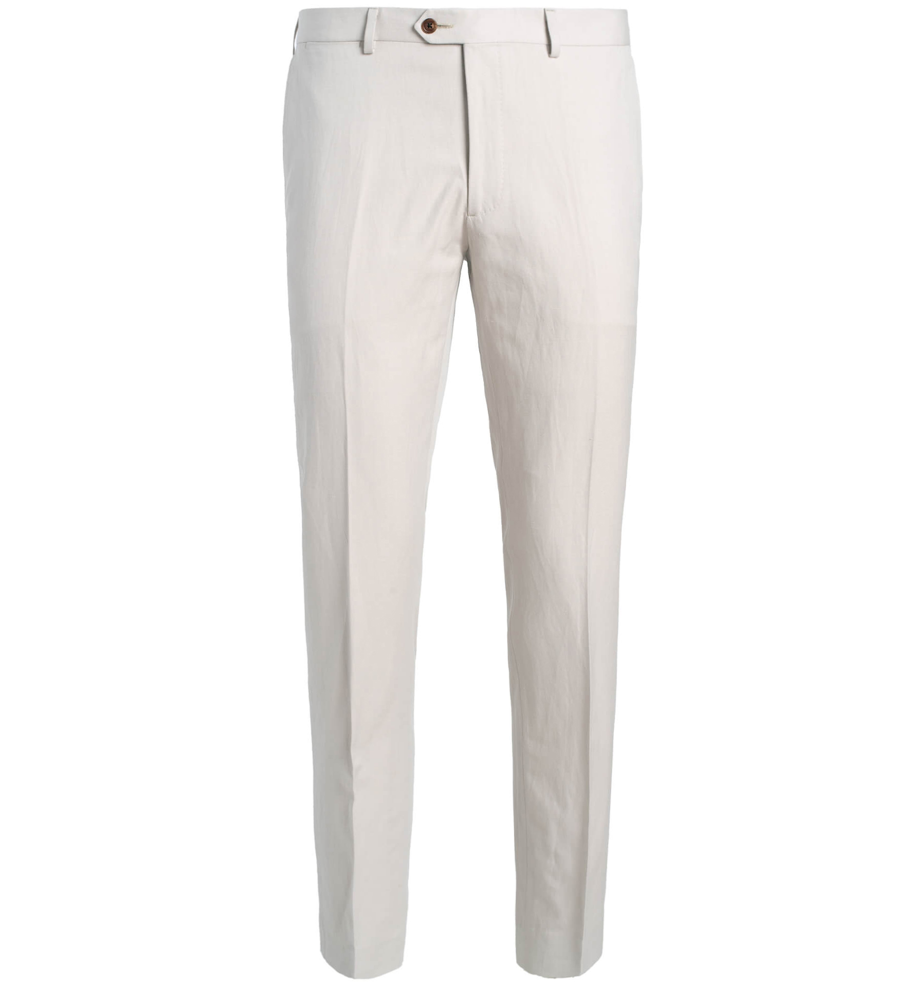 Zoom Image of Allen Beige Cotton and Linen Canvas Trouser