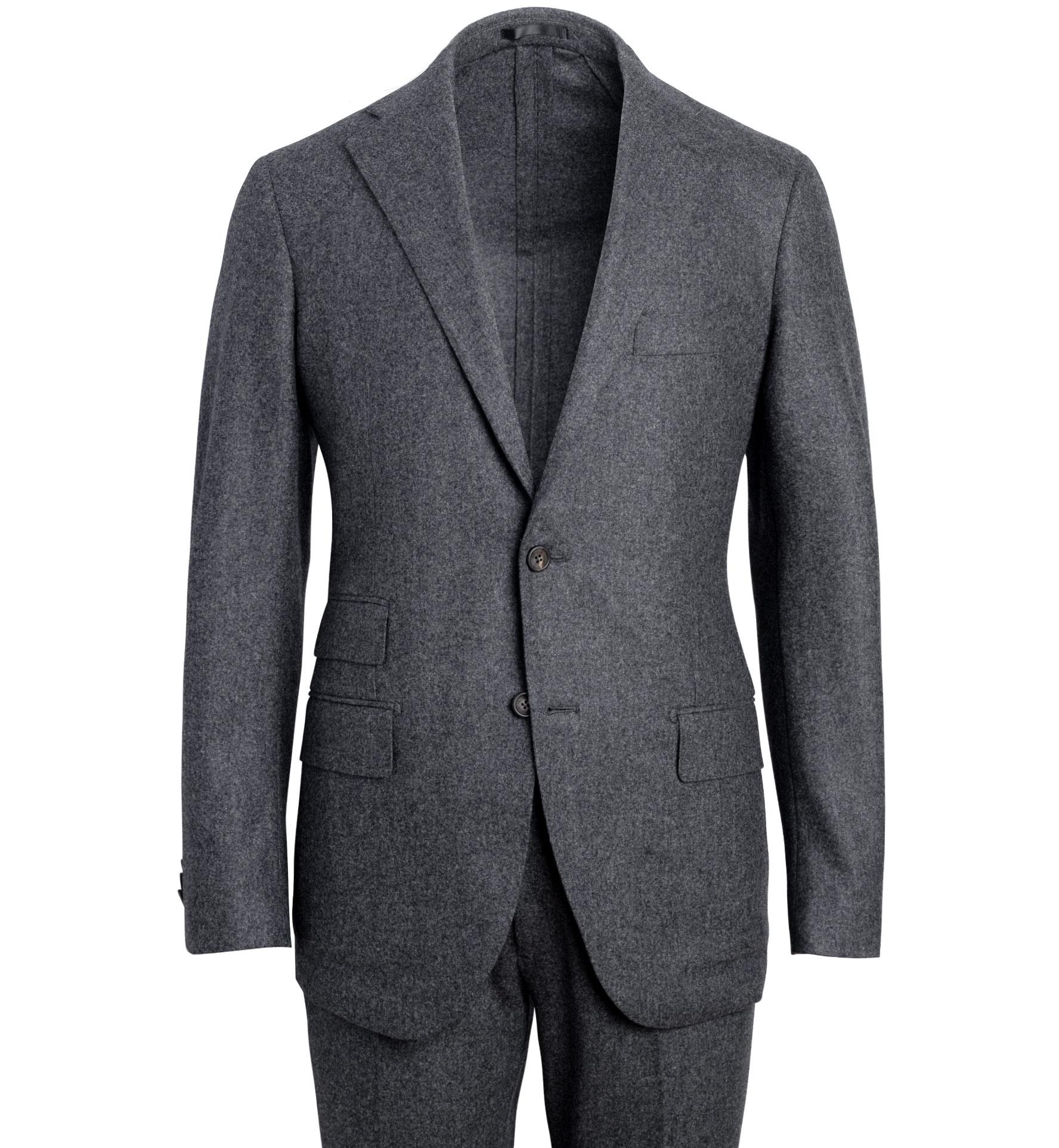 Zoom Image of Allen Grey Wool Flannel Suit