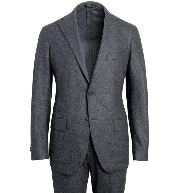 Allen Grey Wool Flannel Suit