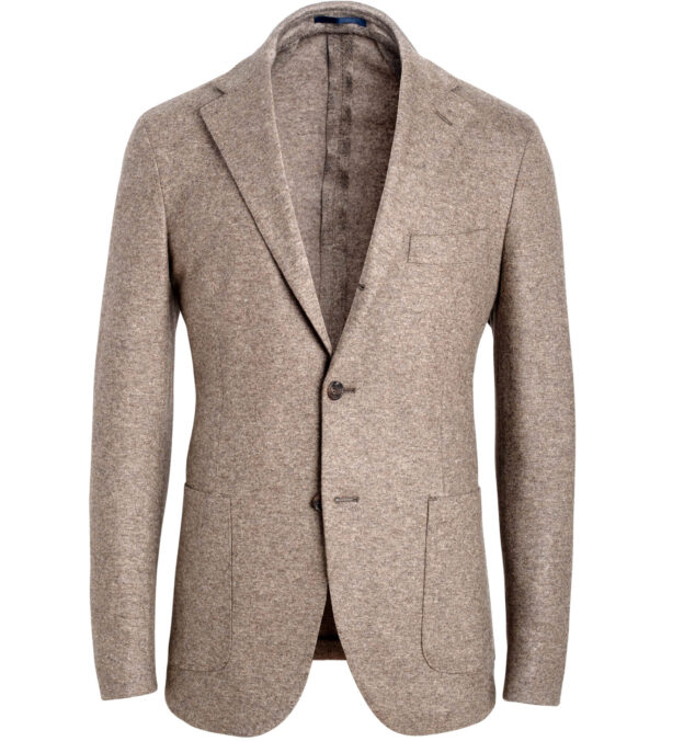 Waverly Taupe Knit Wool Jacket