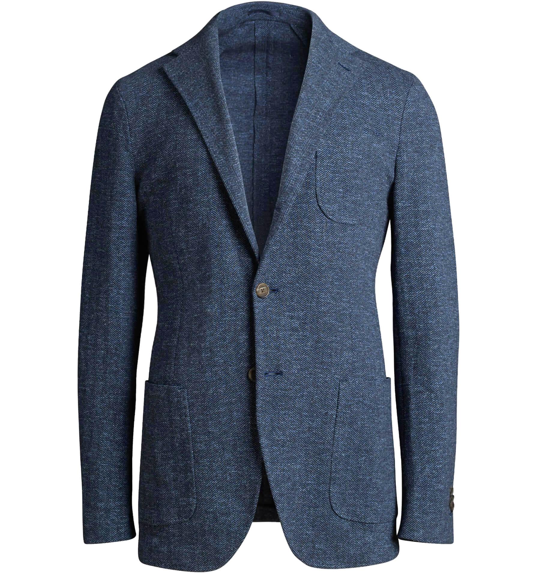 Zoom Image of Waverly Slate Herringbone Knit Jacket