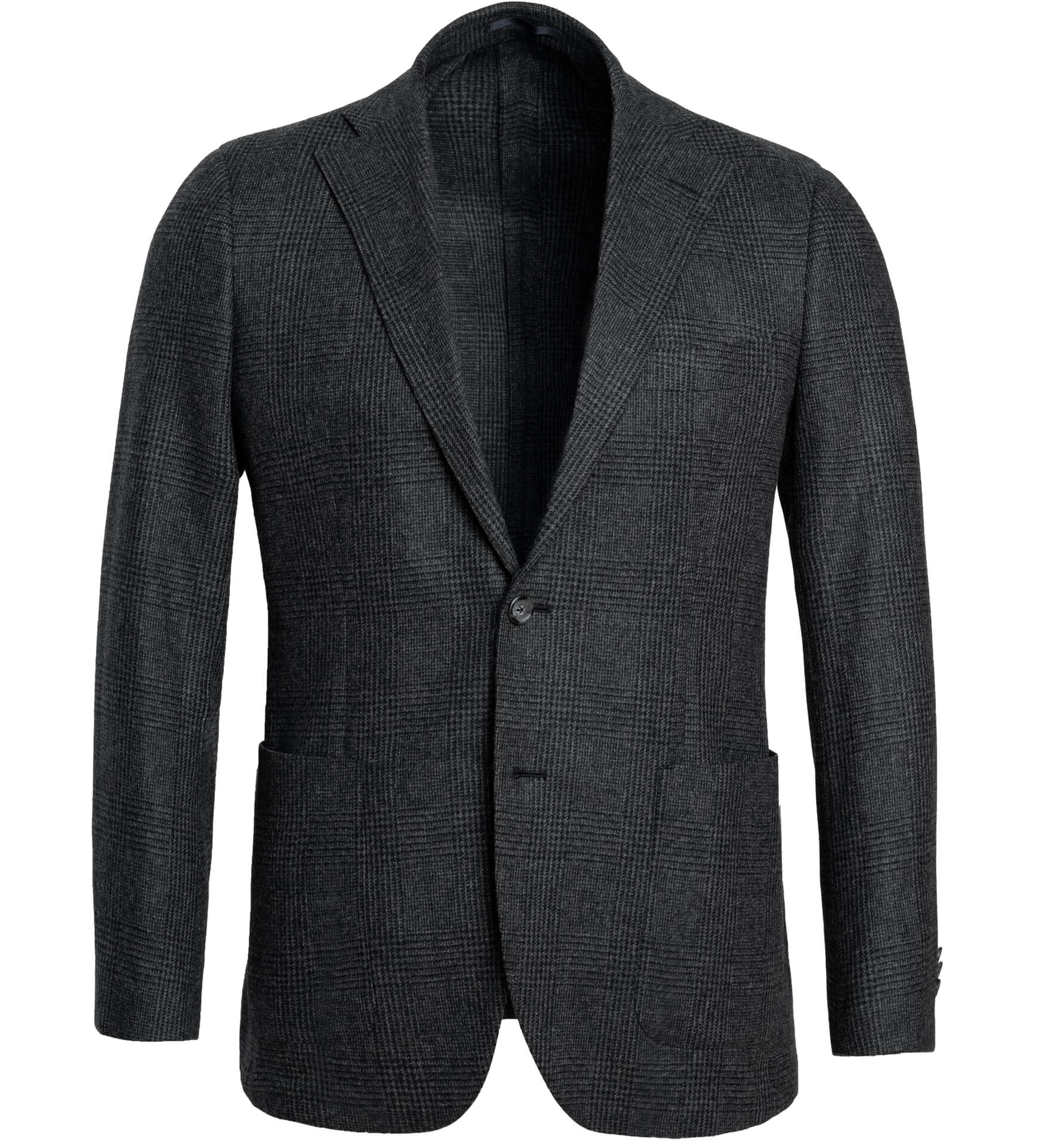 Zoom Image of Bedford Grey Glen Plaid Wool and Cashmere Jacket