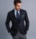 Zoom Thumb Image 2 of Bedford Navy and Grey Plaid Wool and Cashmere Jacket
