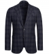 Zoom Thumb Image 1 of Bedford Navy and Grey Plaid Wool and Cashmere Jacket