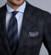 Zoom Thumb Image 3 of Bedford Navy and Grey Plaid Wool and Cashmere Jacket