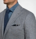 Zoom Thumb Image 1 of Bedford Glacier Blue Herringbone Wool and Cashmere Jacket
