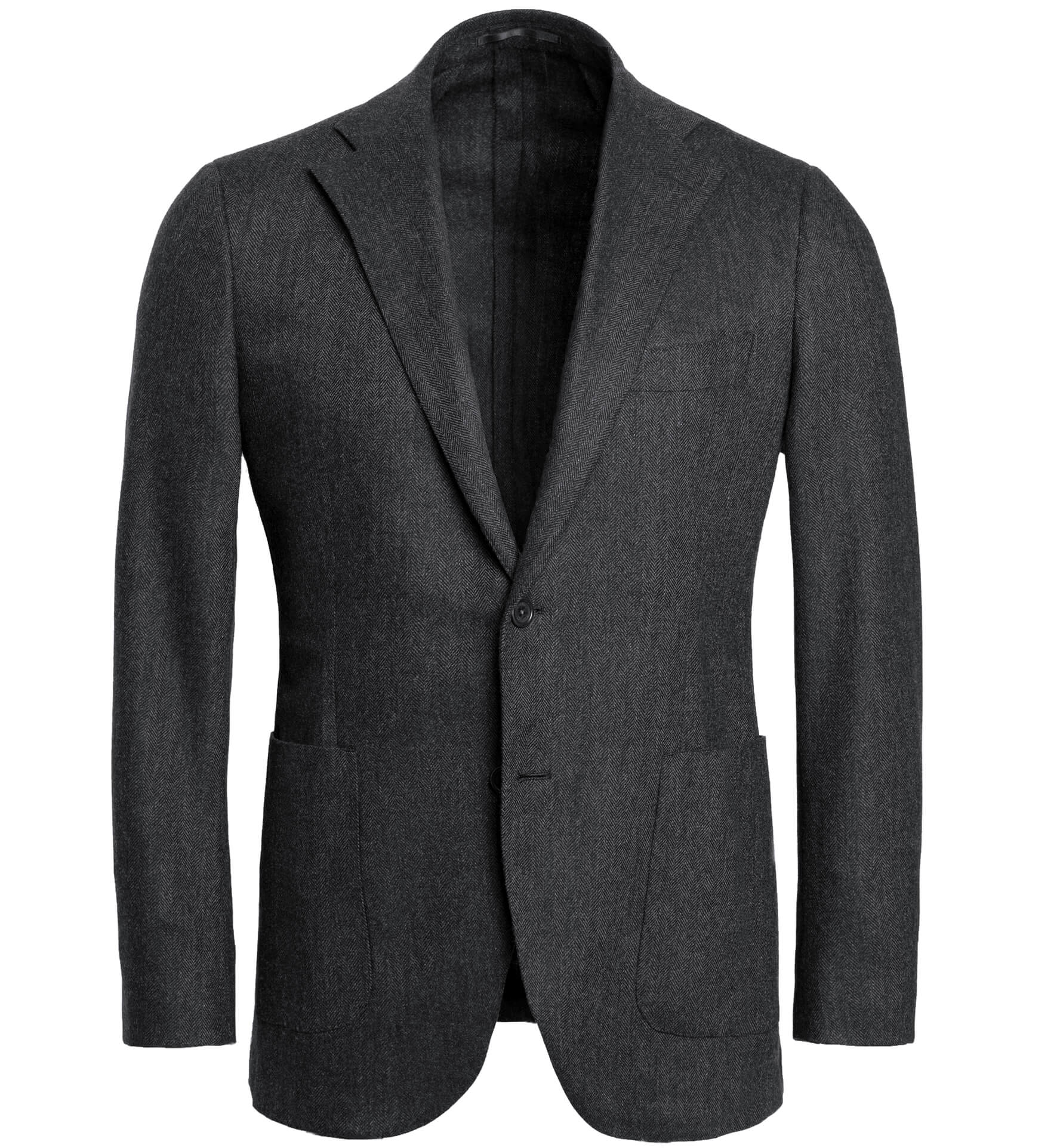 Zoom Image of Bedford Grey Herringbone Wool and Cashmere Jacket