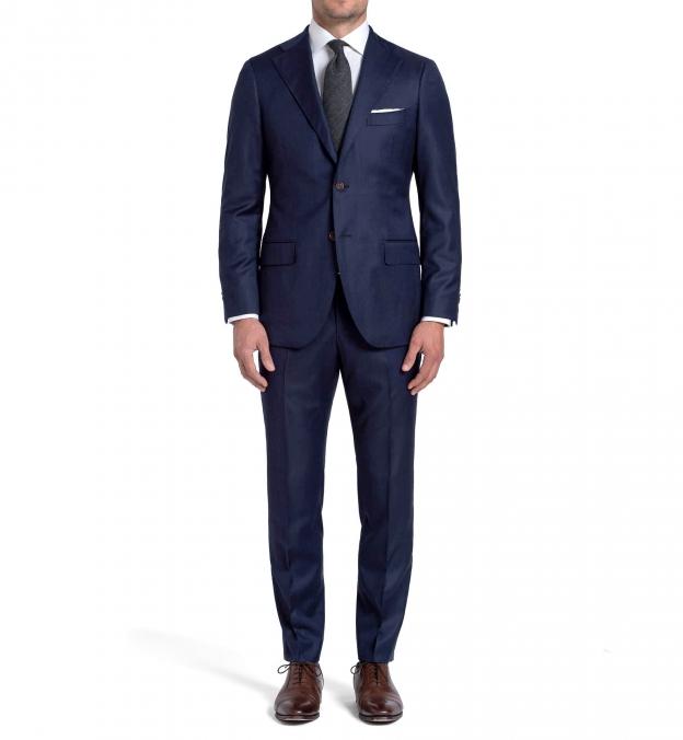 Allen Navy Melange S110s Comfort Wool Suit