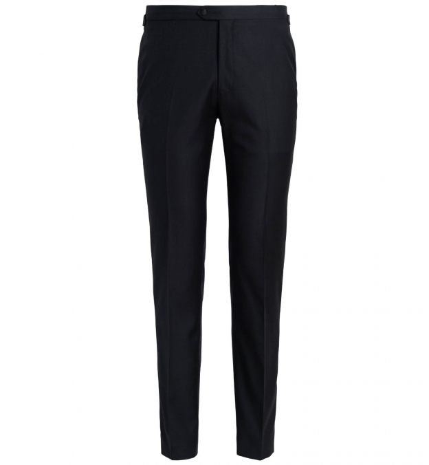 Mayfair Black Wool Tuxedo Pant