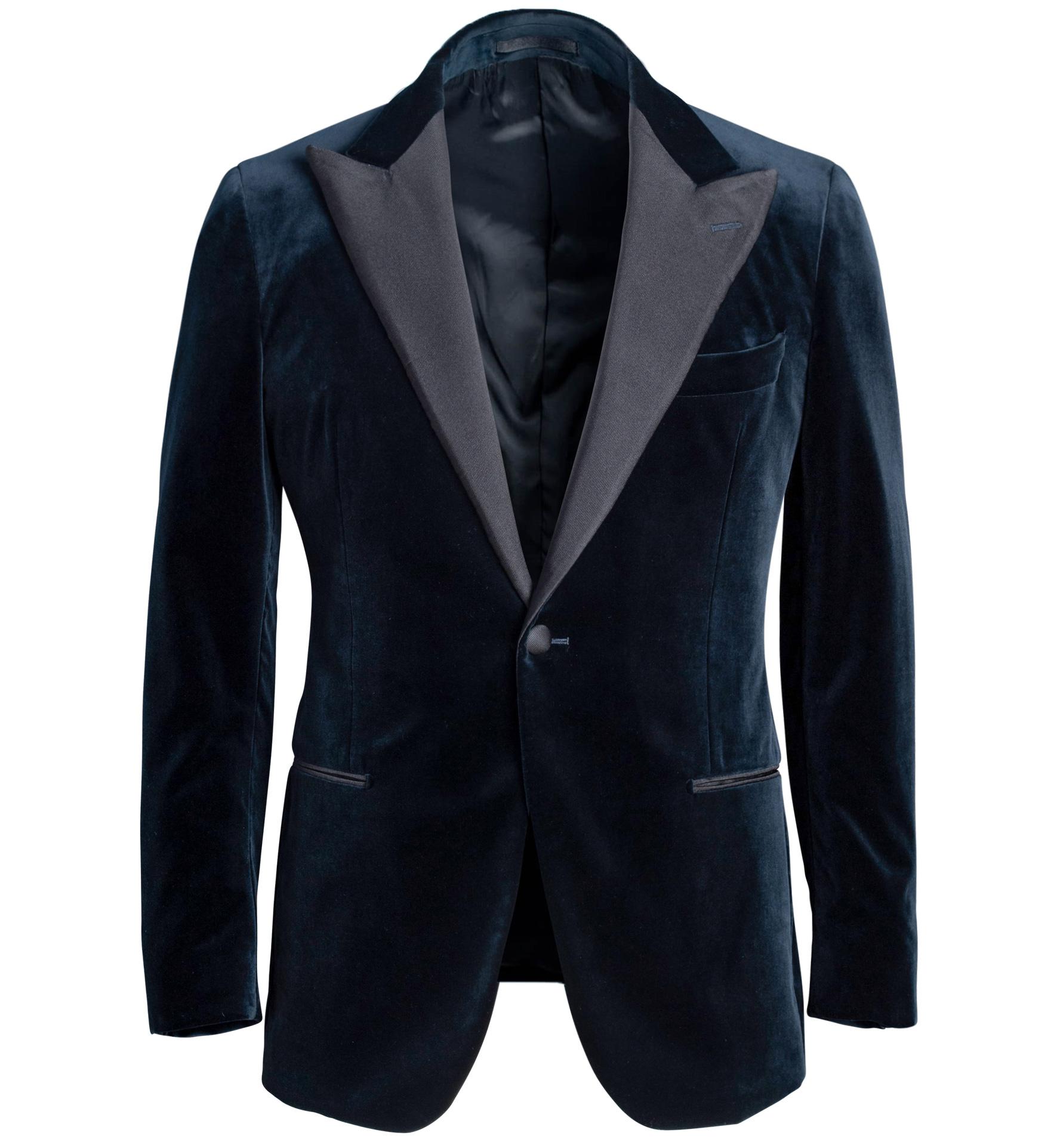 Zoom Image of Mayfair Dark Navy Velvet Dinner Jacket
