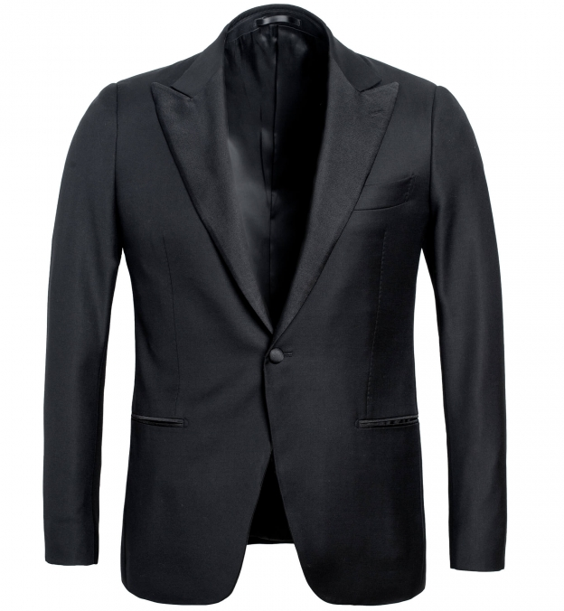 Mayfair Black Wool Tuxedo Jacket