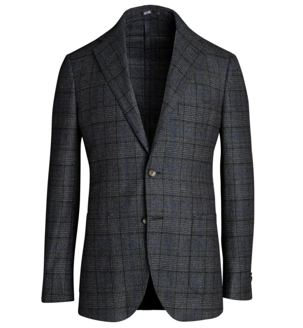 Bedford Charcoal Glen Plaid Wool Jacket