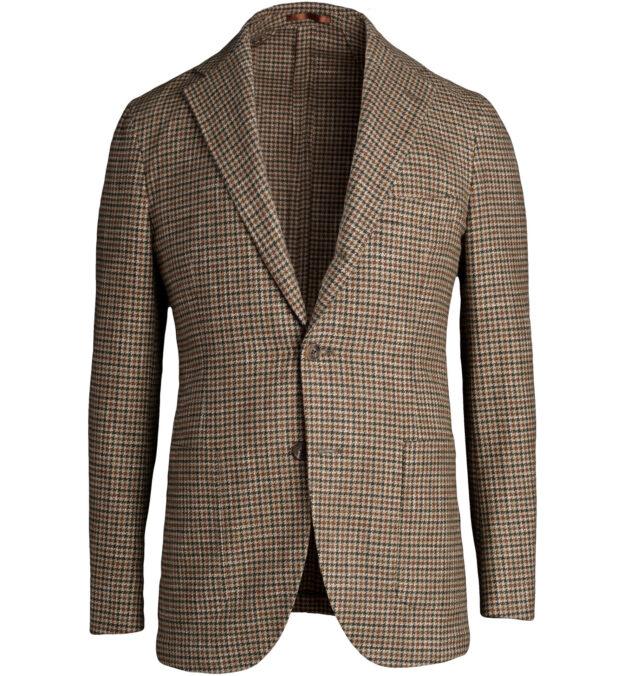 Waverly Brown Gun Check Wool Jacket