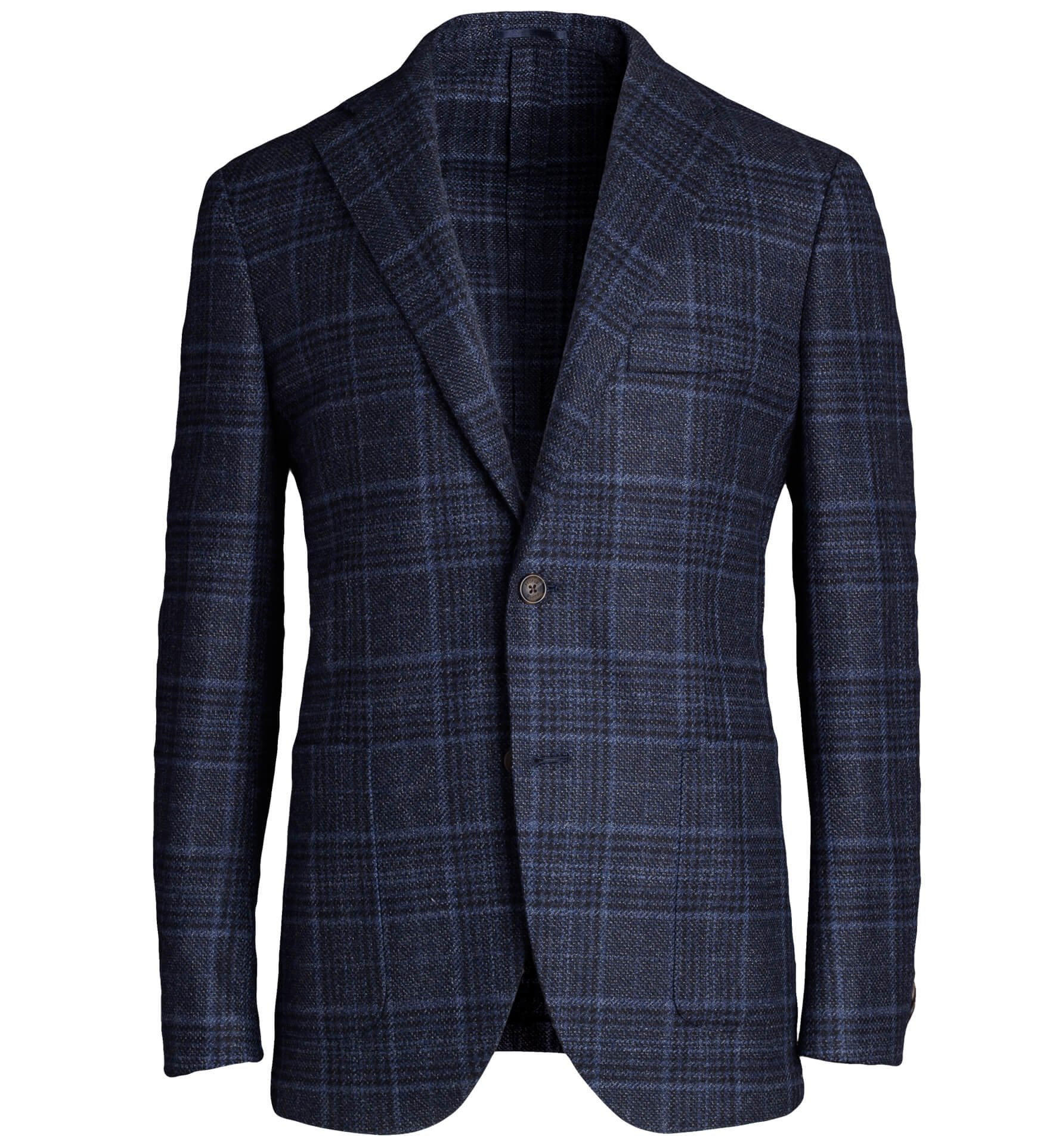 Zoom Image of Bedford Blue Plaid Wool and Cashmere Jacket
