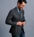 Zoom Thumb Image 3 of Waverly Grey Herringbone Flannel Unstructured Jacket