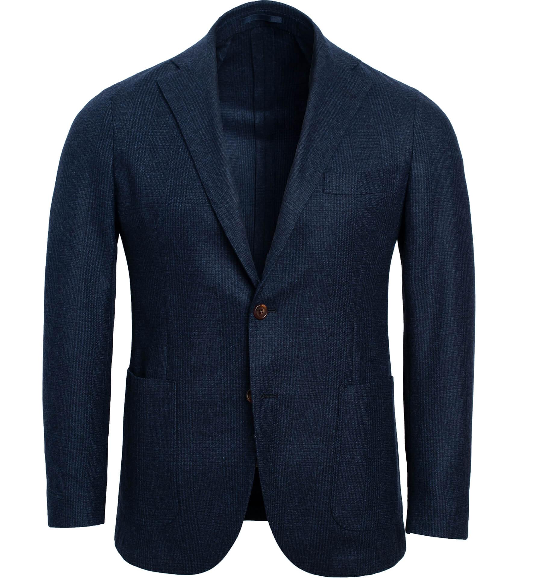 Zoom Image of Waverly Navy Glen Plaid Wool and Cashmere Jacket