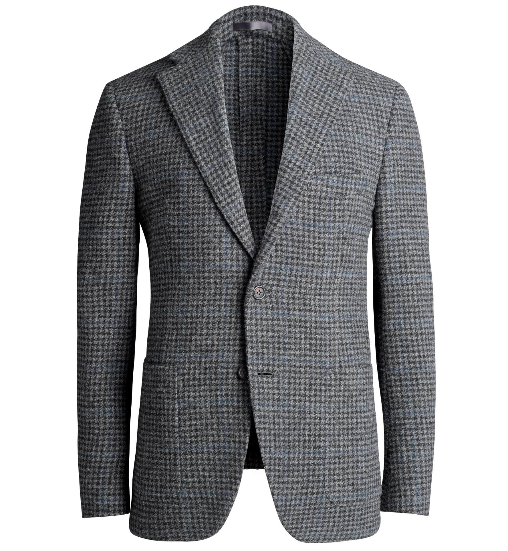 Zoom Image of Waverly Grey Houndstooth Heavy Tweed Jacket