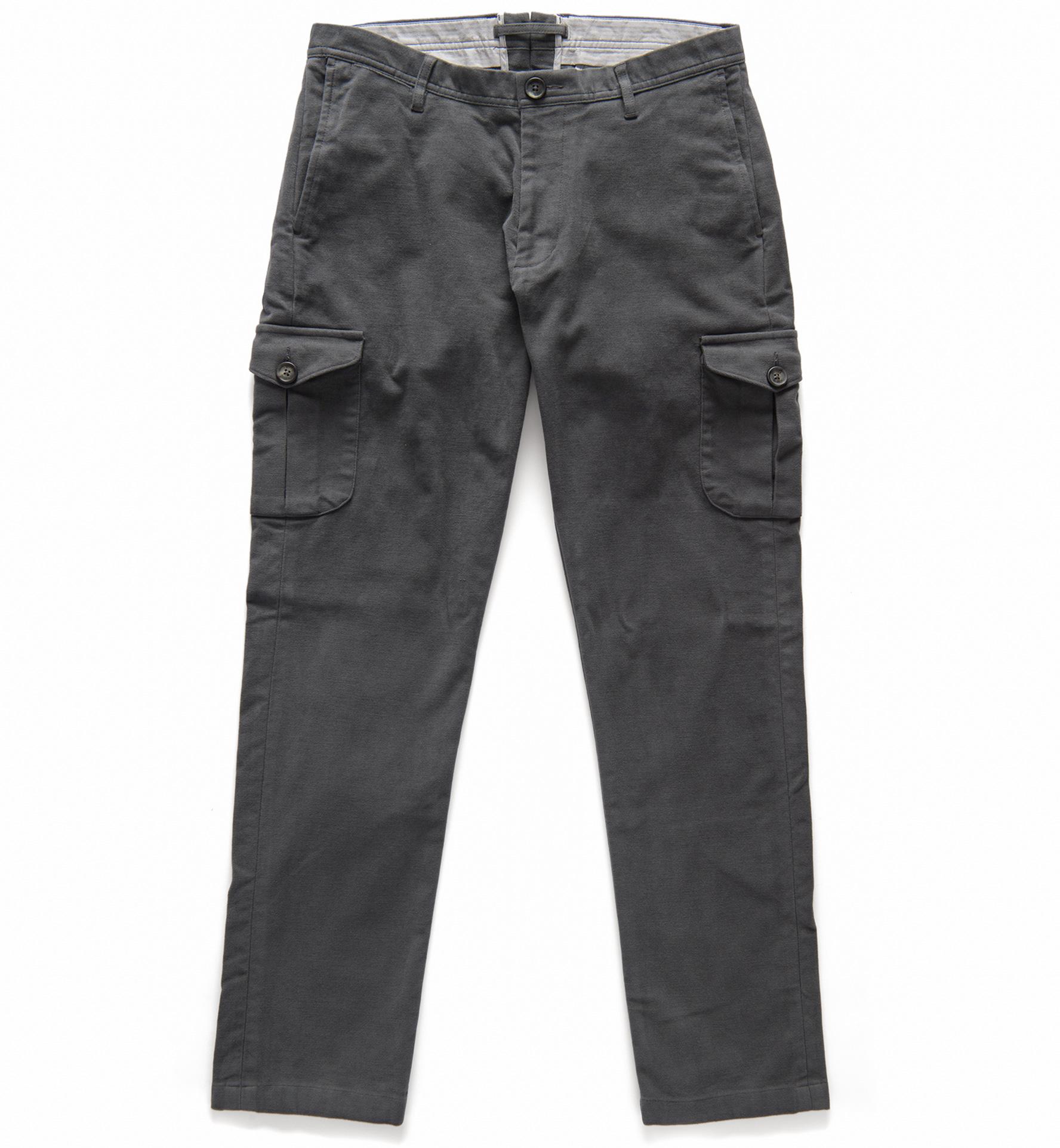 Zoom Image of Thompson Grey Moleskin Cargo Pant