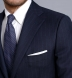 Zoom Thumb Image 5 of Allen Navy Pinstripe S130s Wool Suit
