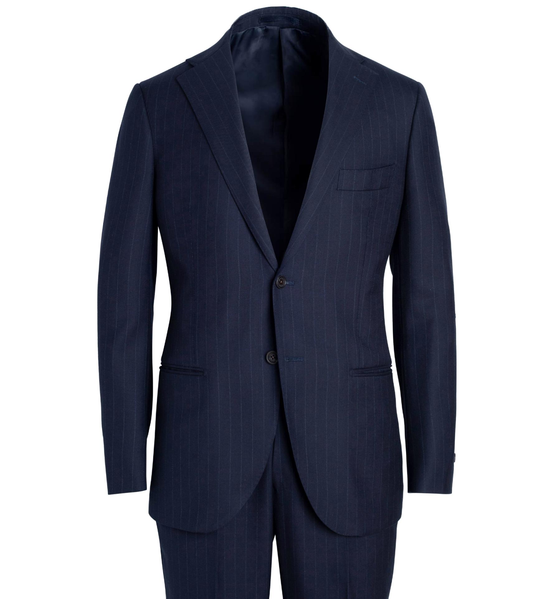 Zoom Image of Allen Navy Pinstripe S130s Wool Suit