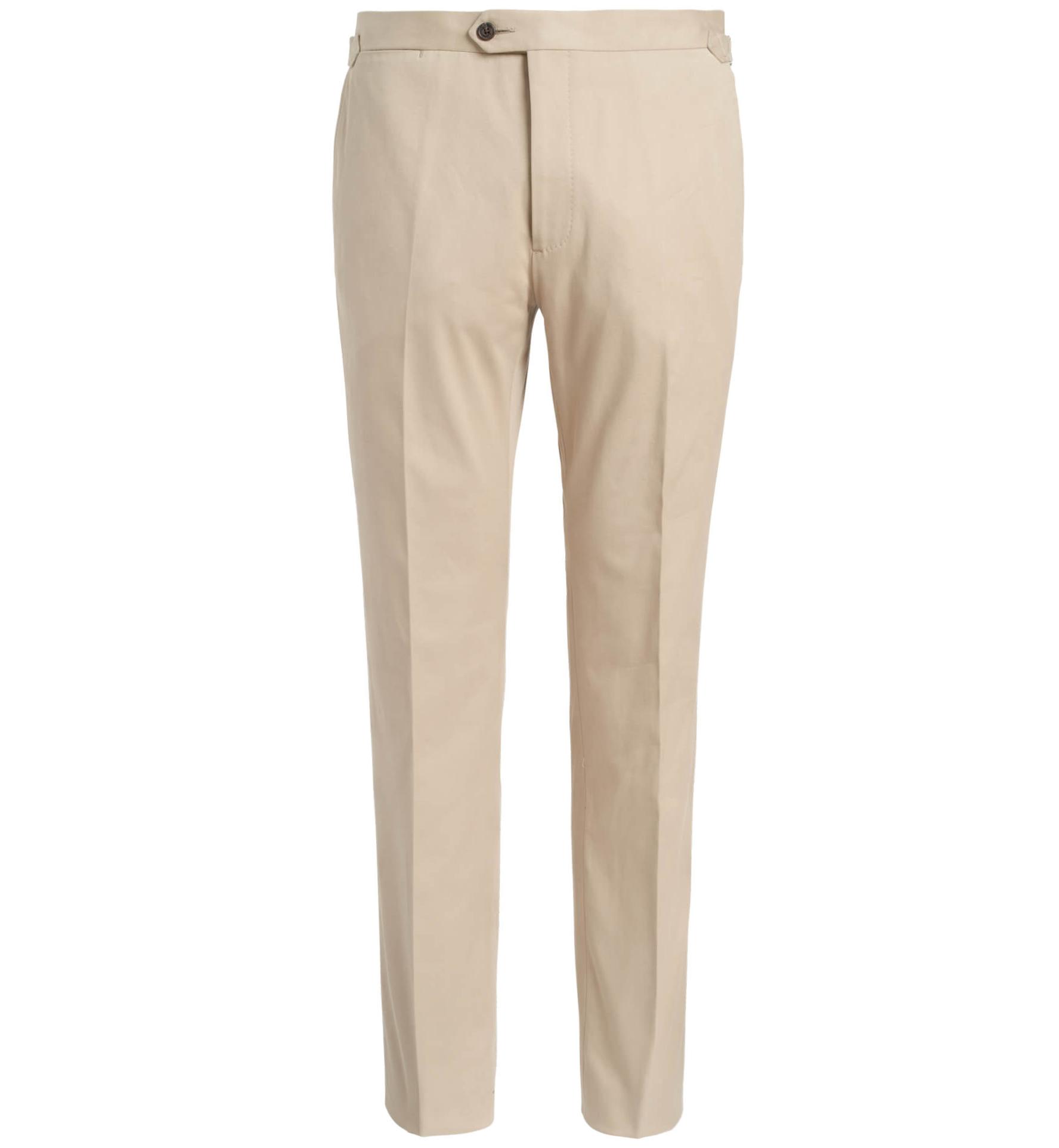 Zoom Image of Allen Beige Stretch Cotton Trouser