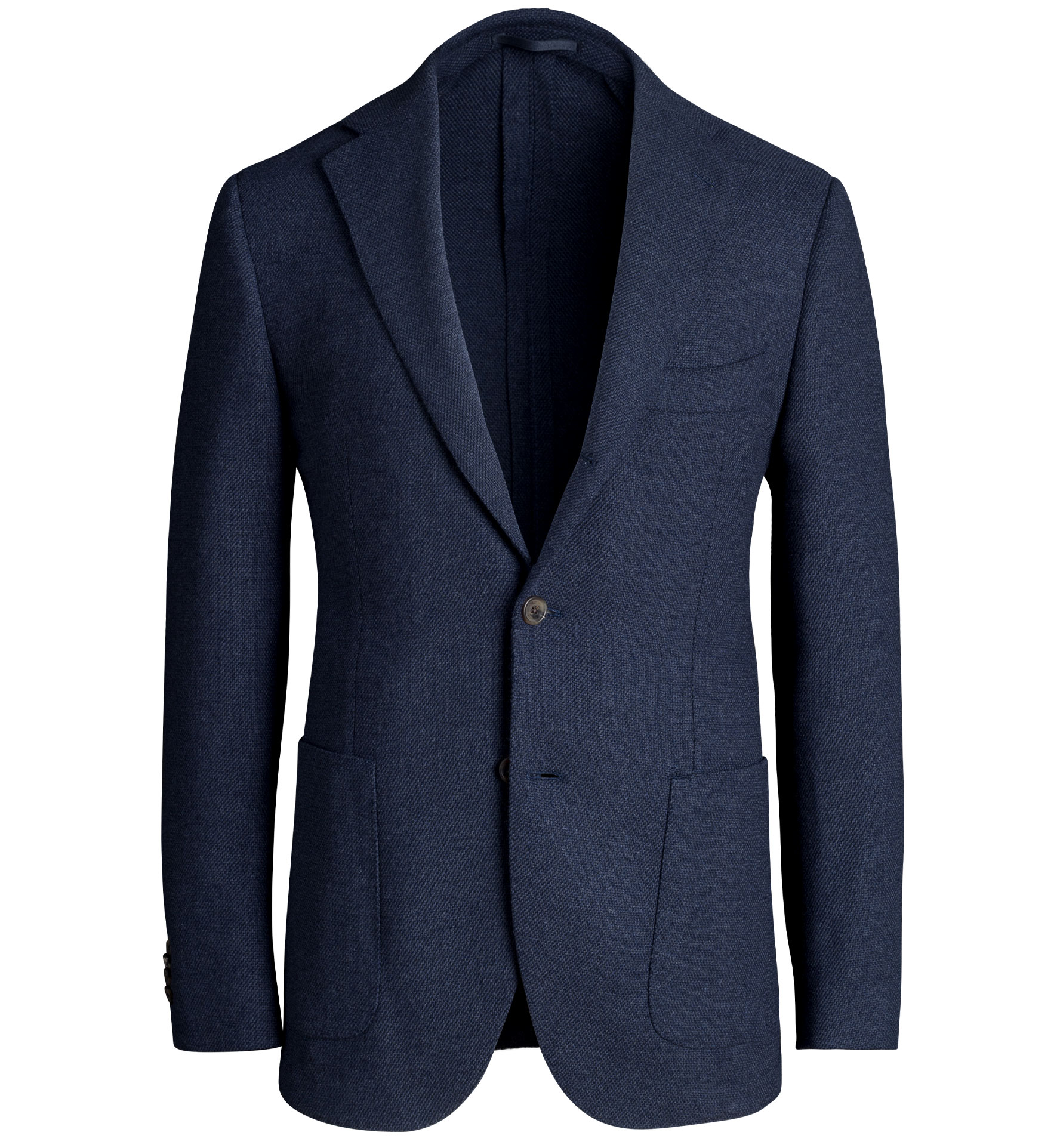 Zoom Image of Bedford Navy Brushed Stretch Hopsack Jacket