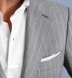 Allen Light Grey S120s Pinstripe Tropical Wool Suit Thumb 6