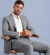 Allen Light Grey S120s Pinstripe Tropical Wool Suit Thumb 3