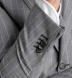 Zoom Thumb Image 7 of Allen Light Grey S120s Pinstripe Tropical Wool Suit