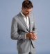 Zoom Thumb Image 5 of Allen Light Grey S120s Pinstripe Tropical Wool Suit