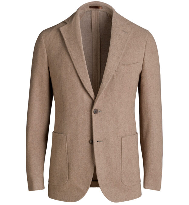 Waverly Camel Double Faced Wool and Cashmere Jacket