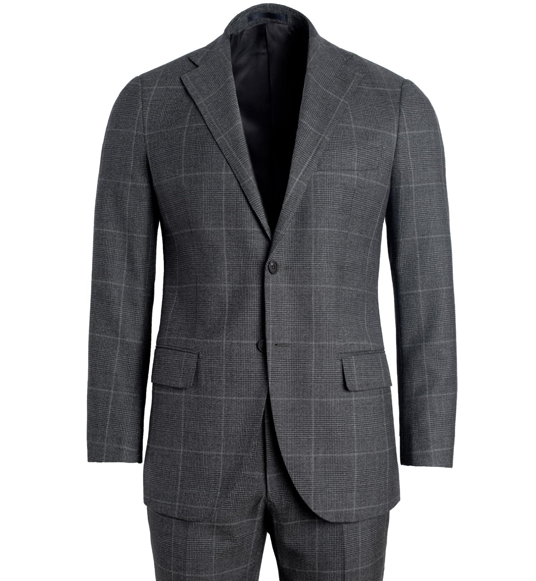 Zoom Image of Allen Grey Glen Plaid S130s Wool Suit