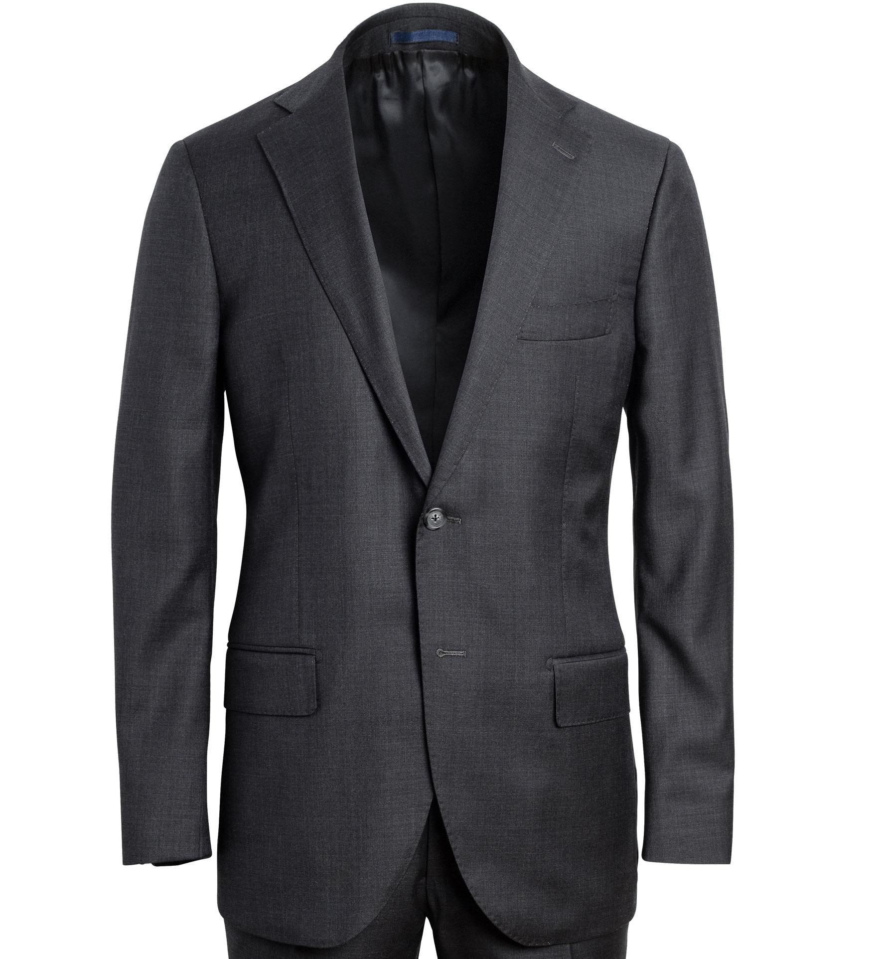 Zoom Image of Allen Grey Wool Suit Jacket