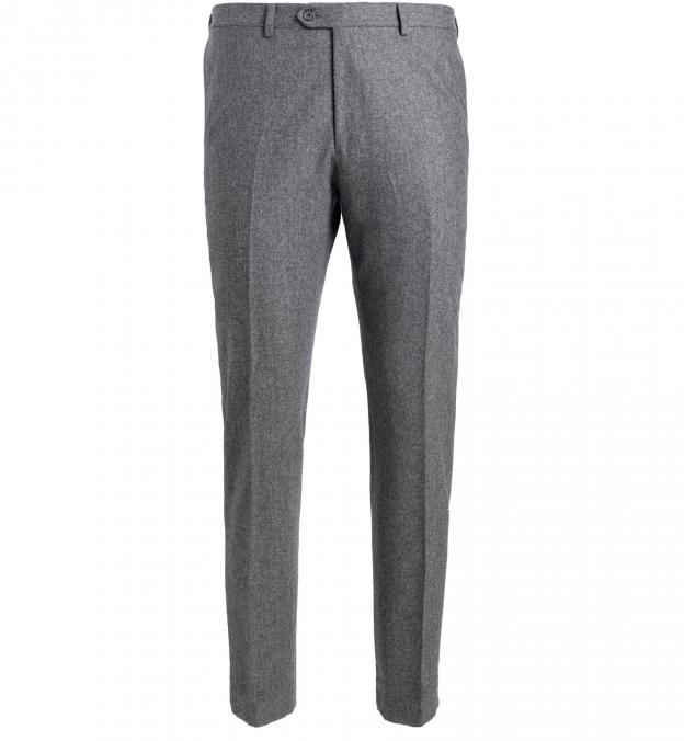 Allen Light Grey Wool Flannel Trouser