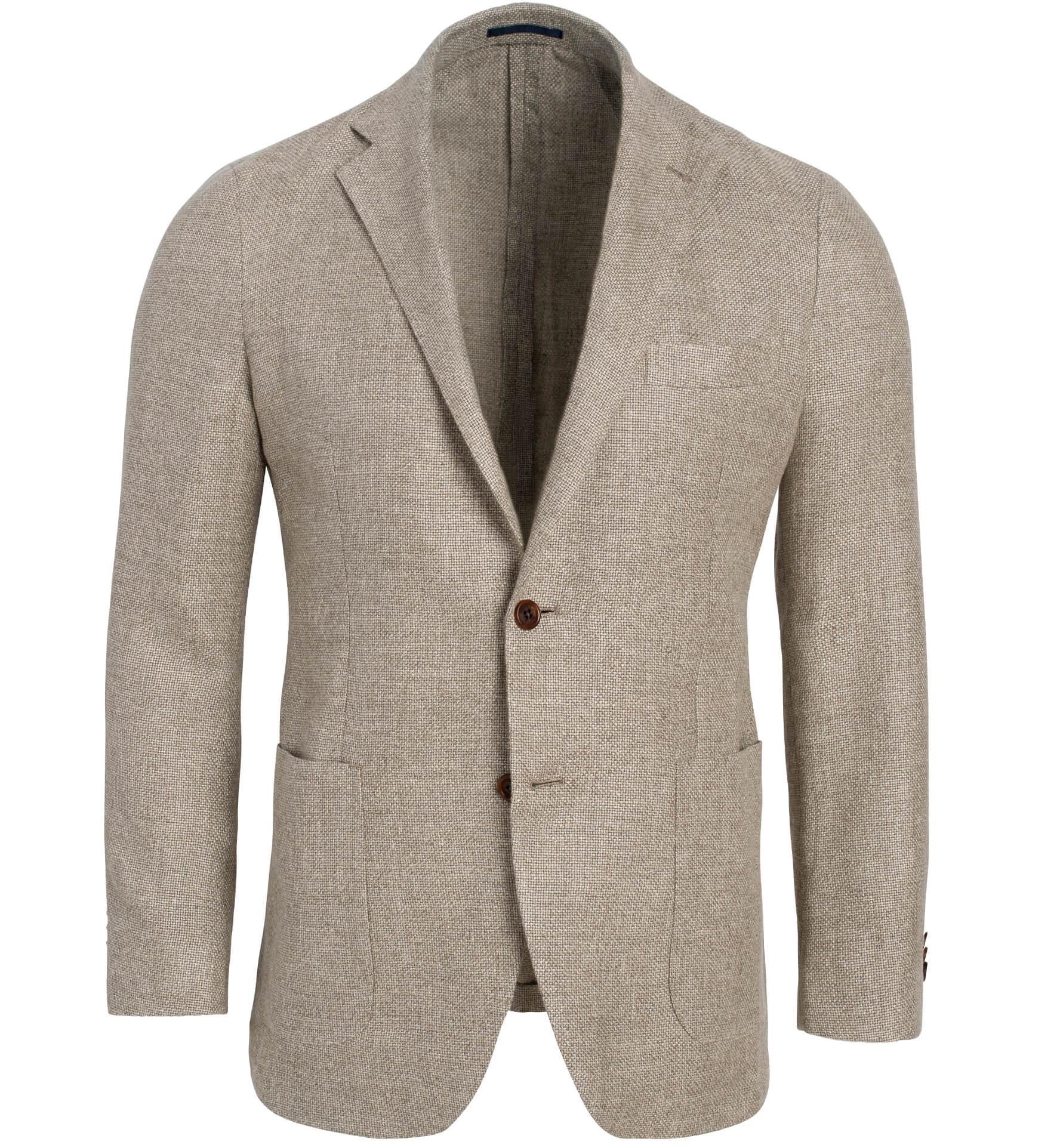 Zoom Image of Waverly Beige Hemp and Wool Basketweave Jacket