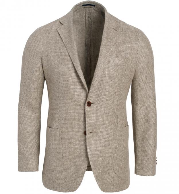 Waverly Beige Hemp and Wool Basketweave Jacket