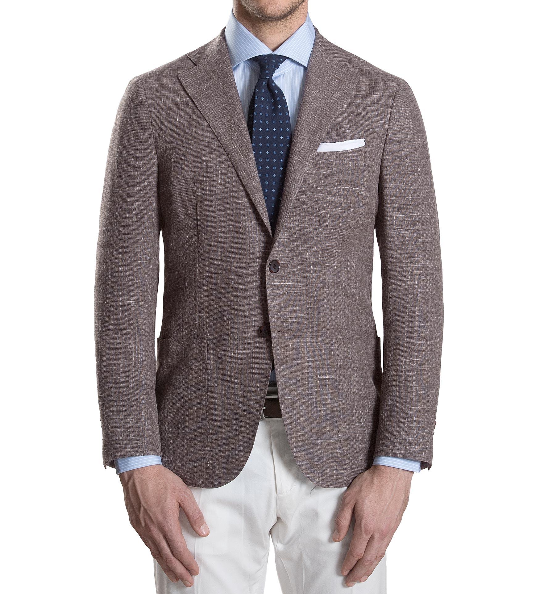 Zoom Image of Hudson Mocha Slub Weave Jacket