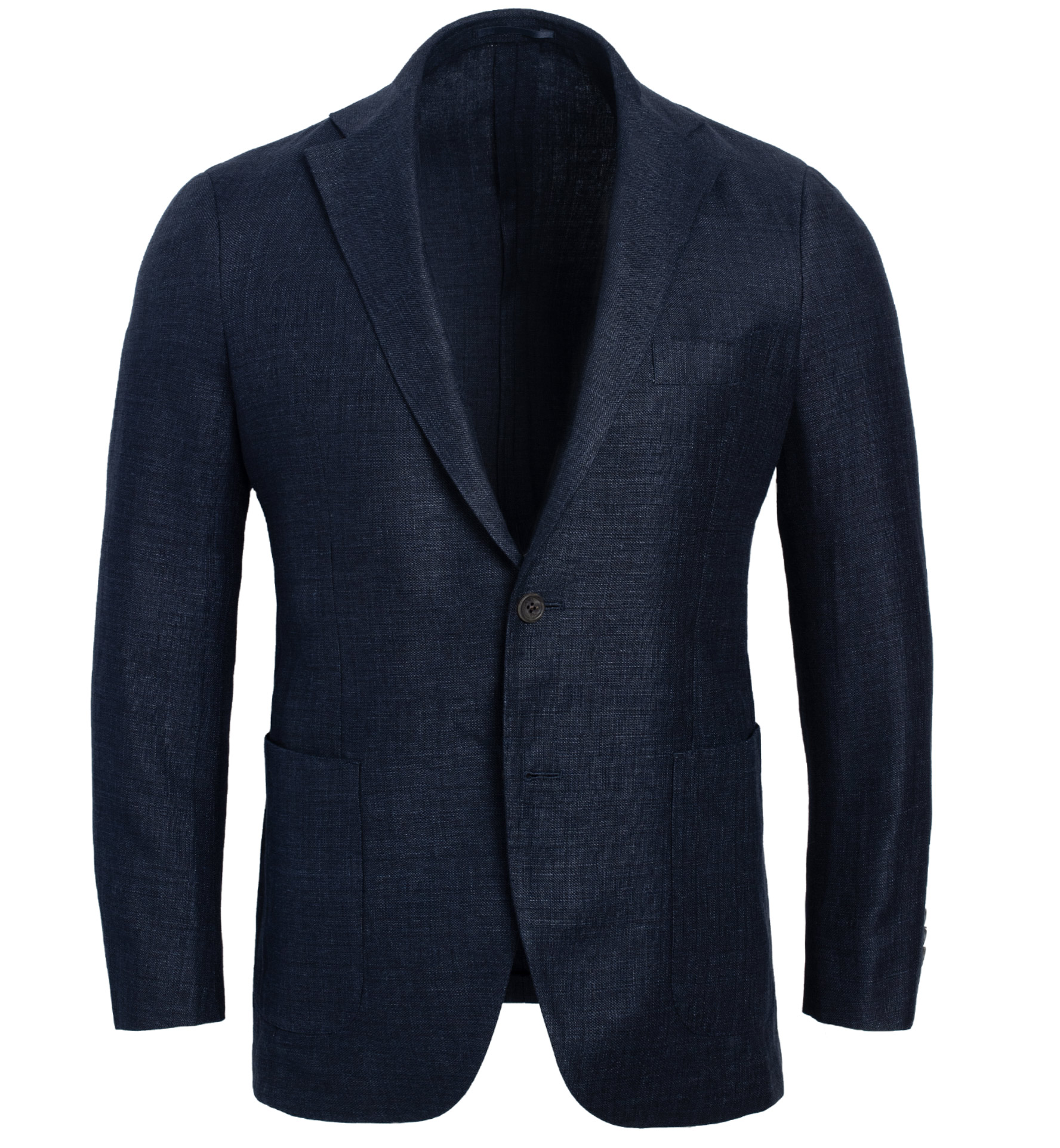 Zoom Image of Bedford Navy Wool and Linen Twill Jacket