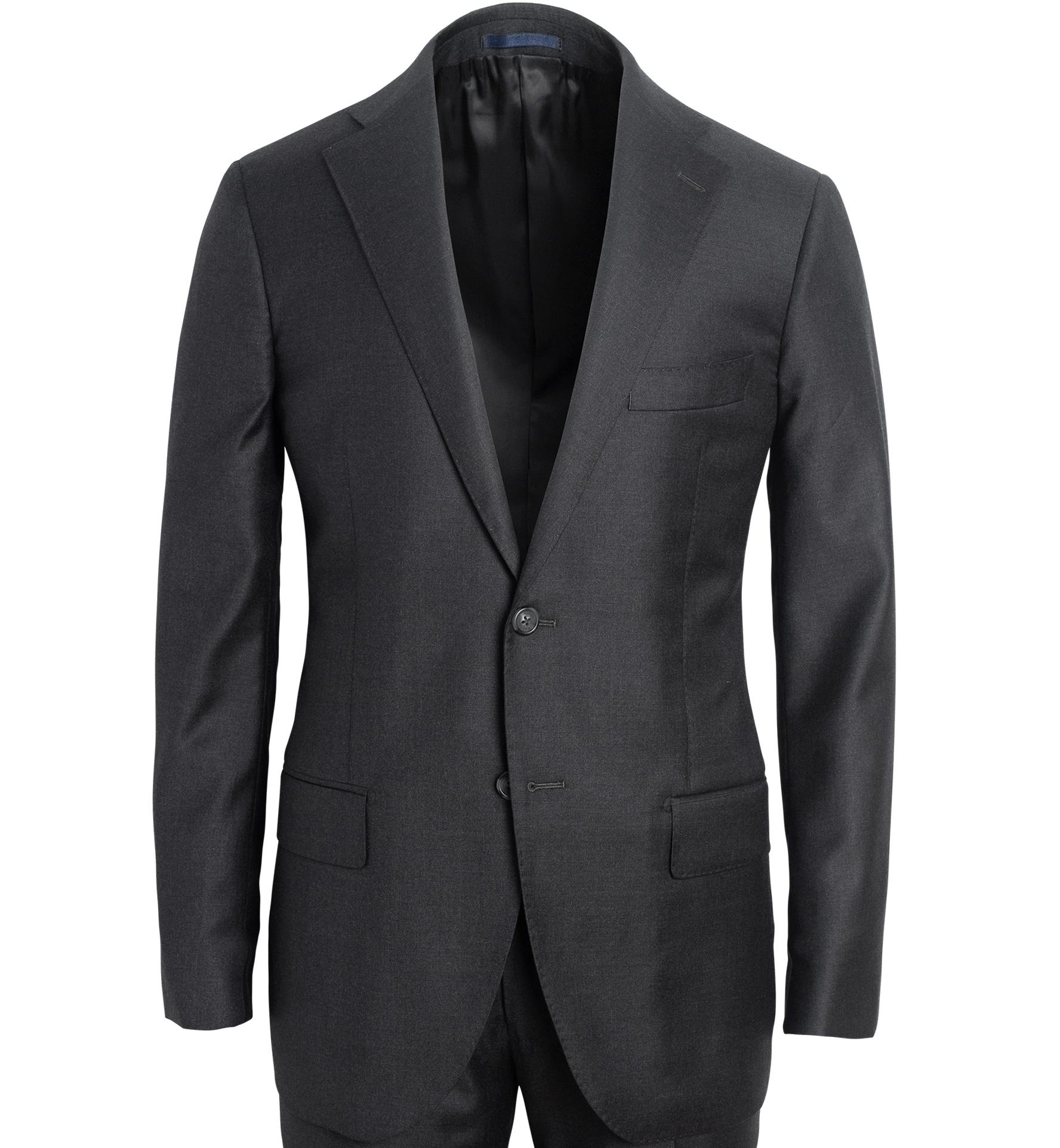Zoom Image of Allen Grey S130s Wool Suit Jacket
