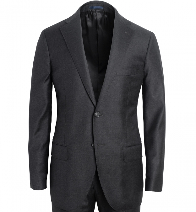 Allen Grey S130s Wool Suit Jacket