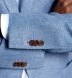 Zoom Thumb Image 5 of Bedford Sky Blue Linen and Wool Hopsack Jacket