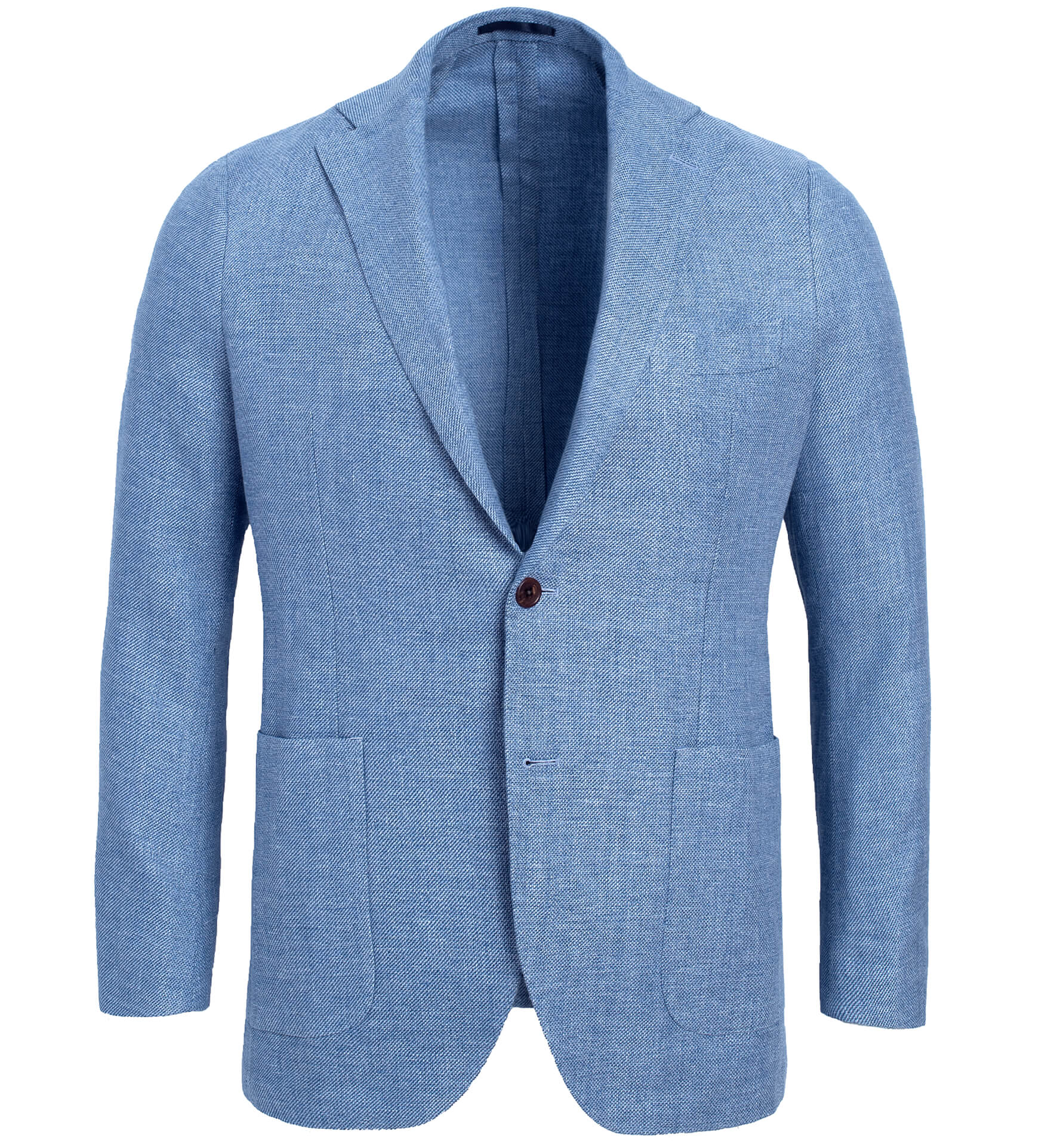 Zoom Image of Bedford Sky Blue Linen and Wool Hopsack Jacket