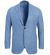 Zoom Thumb Image 1 of Bedford Sky Blue Linen and Wool Hopsack Jacket