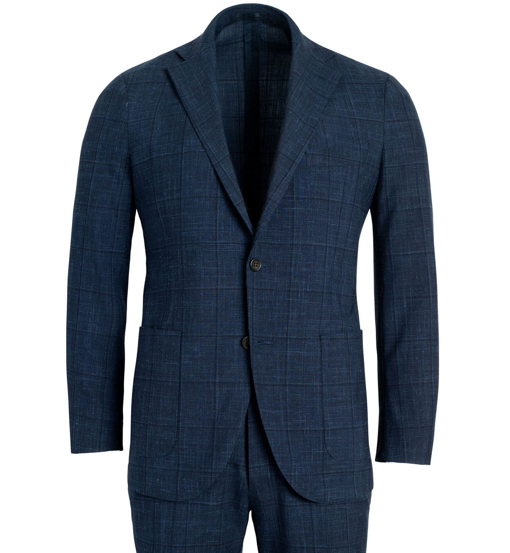 Zoom Image of Bedford Navy Windowpane Suit