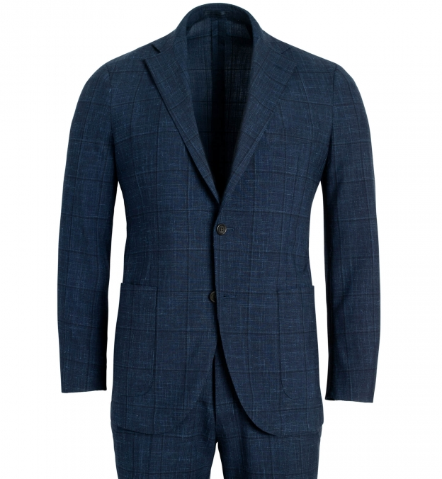Bedford Navy Windowpane Suit