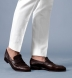 Zoom Thumb Image 4 of Allen White Cotton and Linen Canvas Trouser
