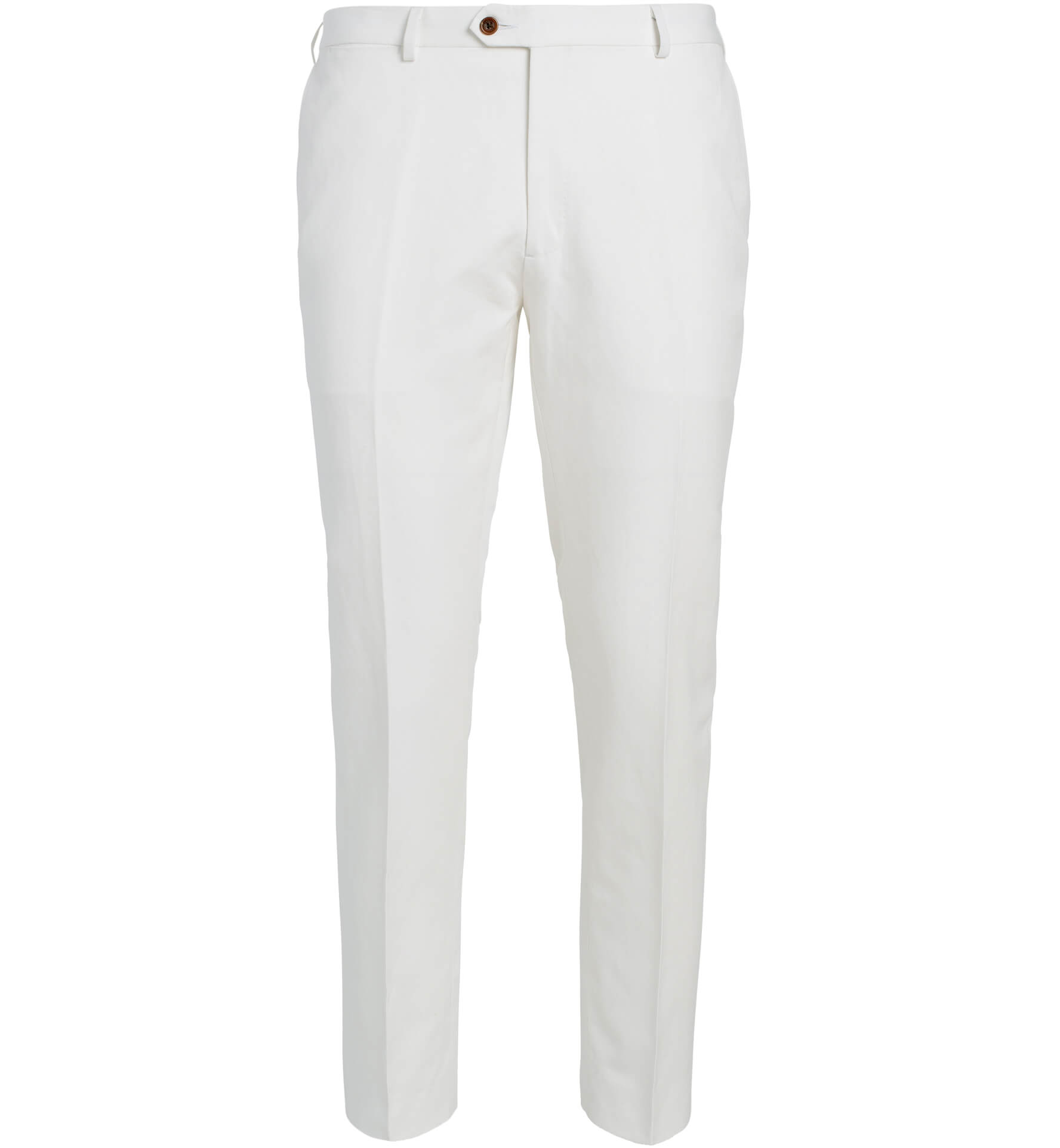 Zoom Image of Allen White Cotton and Linen Canvas Trouser
